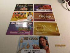 New ListingVintage Trump Hotel Casino -Atlantic City, Nj - slot cards (7) Different- nice