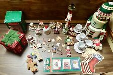 Vintage Large Lot of Christmas Items Decorations Ornaments Gift Tags Trinket Box