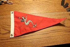 Vintage Mid Century Nylon Boat Burgee Pennants Flag Mermaid
