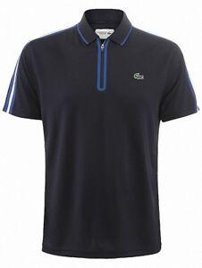 Lacoste DH551500 Men's Half Zip Golf Tennis Polo Shirt Navy UK L FR 5 £95 40%OFF