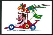 Rubens Barrichello : caricatura di Prosdocimi - cartolina