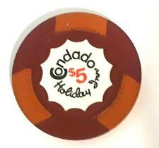$5 CONDADO HOLIDAY INN Casino RED ORANGE Chip SAN JUAN Puerto Rico H mold