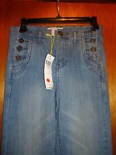 BCBG Sailor Flare Bottom Vintage Style Jeans 24 NWT $138