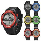 Fashion Men's LCD Digital Stopwatch Date waterproof Rubber Sport Wrist Watch New