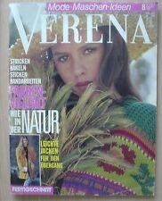 Verena Mode Maschen Ideen 1990 08 AUG 90 Fertigschnitt stricken häkeln sticken