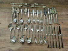 More details for good vintage 42 piece 6 place oneida silversmiths epns grecian pattern cutlery