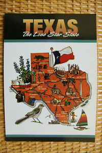 USA MAP Postcard : TEXAS The Lone Star State 1