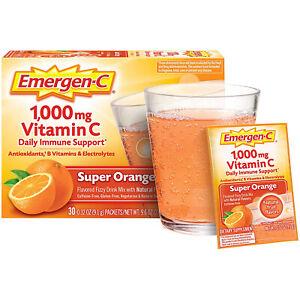 Emergen-C Support Super 1000mg Vitamin C Powder Daily Immune Support 30 Count