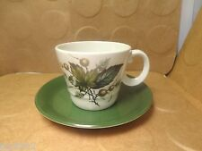 Wood & Sons Cup & Saucer, Alpine White Sherwood Pattern, Burslem England(Used/EU