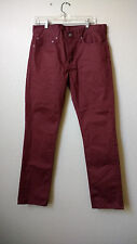 NEW NWOT LEVIS 511 SLIM FIT BURGUNDY LIGHTWEIGHT SKINNY JEANS MENS 34X32