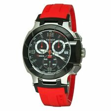 Tissot T-Race Red Rubber Band Mens Chronograph New Watch T048.417.27.057.01 NEW