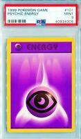 PSA 9 MINT Psychic Energy 101/102 Pokemon Base Set Energy Card WOTC