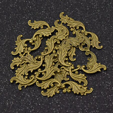 Raw Brass Leaf Filigree Embellishment Wraps Finding DIY Hand Crafts Charms