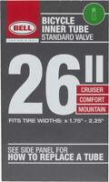 "Bell Standard Cruiser & Mountain Bike Tubes Bicycle Inner Tube 26""x1.75-2.25"""