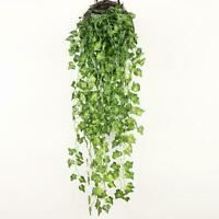 Artificial Hanging Plant Flowers Greenery Vine Leaf Garland Fake Faux Decor 2pcs