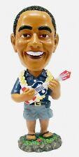 "NEW Hawaiian Dashboard Bobble Head Doll ~ PRESIDENT OBAMA W/ UKULELE 6"" #40669"