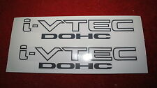i-VTEC DOHC Decal Sticker for Honda Civic Jazz Fit Accord (Dark Gray color)