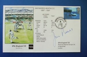 1997 HAWARDS HEATH CRICKET CLUB 100TH ANNIVERSARY COVER SIGNED BY JIM PARKS