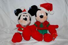 Holiday Mickey & Minnie Plush Pair 2000 Vintage