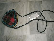 Adorable sac fille à bandoulière en forme de coeur tissu écossais NEUF étiqueté