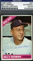 Billy Herman Vintage Signed 1966 Topps Psa/dna Certed Autograph Authentic