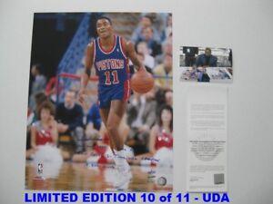ISIAH THOMAS signed/autographed DETROIT PISTONS 16x20 Photo  LIMITED 10/11 - UDA