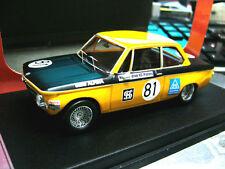 BMW 2002 1600 ti alpina Brno 1969 #81 gamba/Raschig RARE 1/100 scala 43 1:43