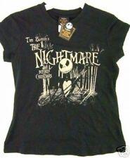 NWT Juniors Lg Black Nightmare Before Christmas Jack Bone Daddy Disney Tee Shirt