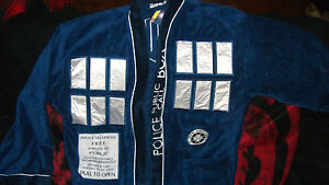 Dr.Who Bath Gift 2 Piece Set 1 Adult Cotton Robe & 1 Oversized Thin Beach Towel