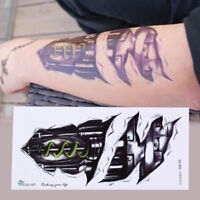 3D Waterproof Robot Arm Temporary Tattoo Stickers Body Art Removable TatooTRFRRZ