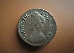 GEORGE II  FARTHING 1737  / SNIFF'S  ANCIENT COINS T-7