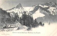 CHEMIN DE FER ELECTRIQUE MONTREUX LES AVANTS TRAIN SWITZERLAND POSTCARD (1902)