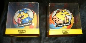2 x The Simpsons 3D Sphere Jigsaw Puzzle CHIEF WIGGUM + BARNEY GUMBLE