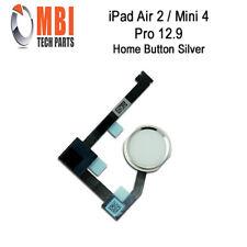 iPad Air 2 Mini 4 Pro 12.9 Replacement Home Menu Button and Flex Silver White