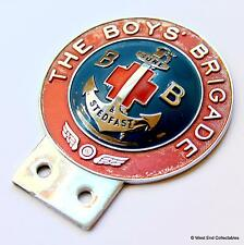 1960s Car Badge - The Boys Brigade BIRMINGHAM MEDAL CO - Rare Grille Auto Mascot