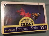 Vintage Winning Hand Designer Series Butterfly Playing Cards Sealed