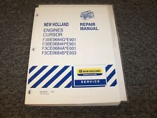 New Holland TD5050 T4040 T4050 Tractor Engine Shop Service Repair Manual Book