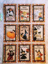 Set of 9 Cards~Vintage Halloween Kids~Pocket Pen Pal Letter Kit~& Protector~#126