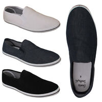 Mens Designer Slip On Canvas Espadrilles Boys Pumps Plimsolls Beach Shoes Size