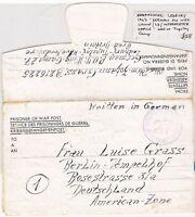 # 1947 POW CAMP 27 TUPSLEY LEDBURY HEREFORDSHIRE CACHET LETTERSHEET TO GERMANY