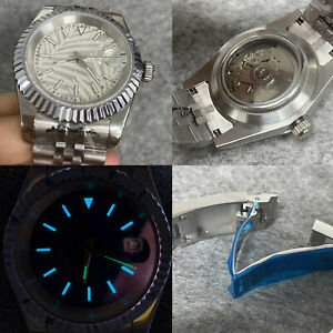 Watch Case Stainless Steel 39mm Dog Tooth Log Tooth Ring Shell for NH35 Movement
