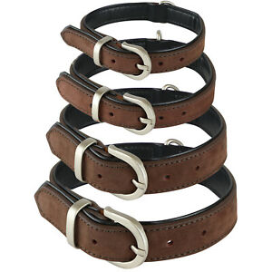 ME & MY PETS QUALITY BROWN SOFT REAL LEATHER DOG/PUPPY COLLAR SMALL/MEDIUM/LARGE