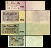 1 - 10 Billionen Mark - Reichsbanknoten 01.11.1923 - 10. Ausgabe - Reproduktion
