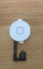 New White Home Menu Button Flex Cable + Key Cap assembly for iPhone 4 4G