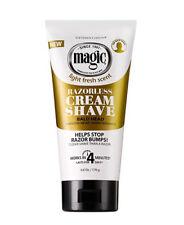 Magic Light Fresh Scent Razorless Cream Shave Bald Head Help Stop Razor Bump 6oz