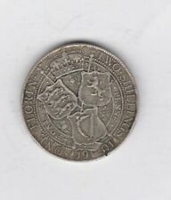 More details for damaged 1901 victorian old head silver florin in good fine condition