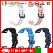Silicone Wrist Strap Watch Band w/Steel Buckle for Huawei Honor Band 5/4 #11