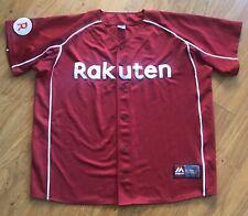 Majestic Tohoku Rakuten Golden Eagles Baseball Jersey XL Stitched Japan NPB