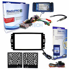 Radio Replacement Interface & 2-Din Dash Install Kit & w/Steering Wheel Control