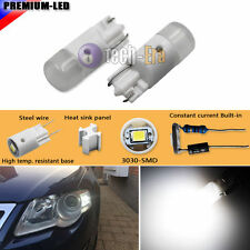 (2) White 3030-SMD T10 LED Bulbs For Car Parking Position Light 168 194 2825 W5W